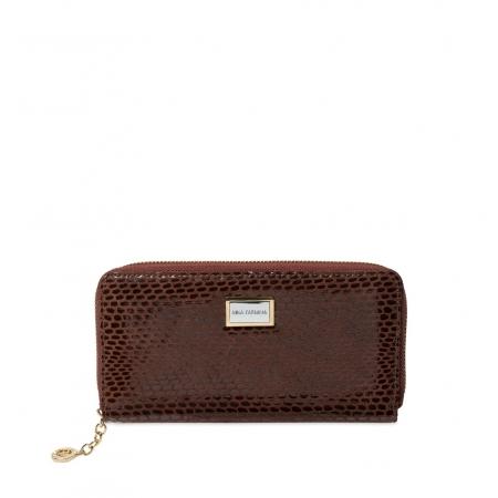 Кошелек Nina Farmina 9285-121 коричневый кожаный