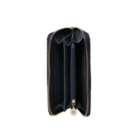 Кошелек Nina Farmina 9285-125 темно-синий кожаный