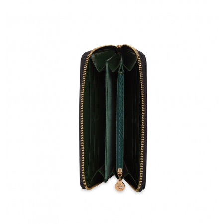Кошелек Nina Farmina 9285 зеленый с декором кожаный