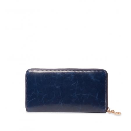 Кошелек Nina Farmina  9285 темно-синий кожаный
