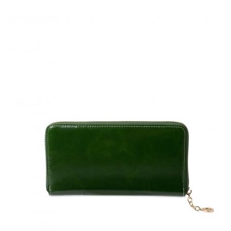 Кошелек Nina Farmina 9285 темно-зеленый кожаный