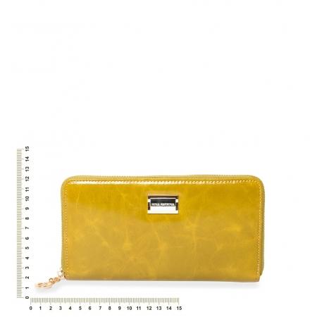 Кошелек Nina Farmina  9285 ярко-горчичный кожаный