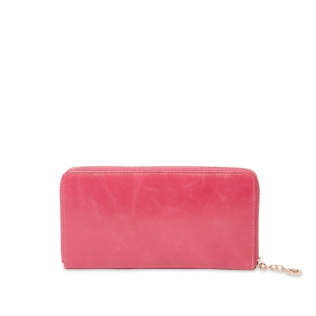 Кошелек Nina Farmina 9285 розовый кожаный