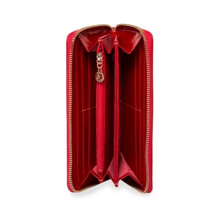 Кошелек Nina Farmina 9285 красный кожаный