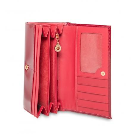 Кошелек Nina Farmina 9287-026 красный кожаный