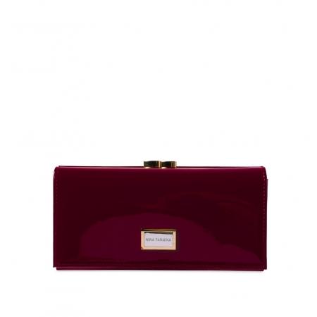Кошелек Nina Farmina 9287-026 вишневый кожаный