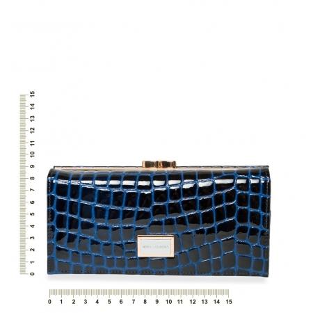 Кошелек Nina Farmina 9287-095 темно-синий кожаный