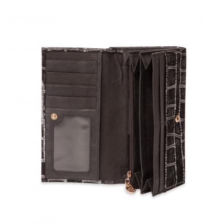 Кошелек Nina Farmina 9287-099 черный кожаный