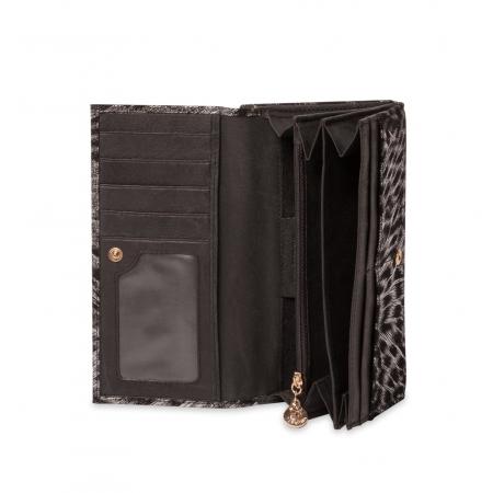 Кошелек Nina Farmina 9287-100 черный кожаный