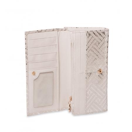 Кошелек Nina Farmina 9287-101 белый кожаный