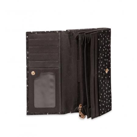 Кошелек Nina Farmina  9287-107 черный кожаный