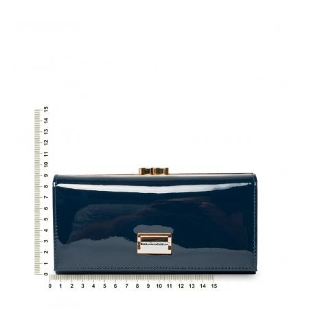 Кошелек Nina Farmina 9287 темно-синий кожаный