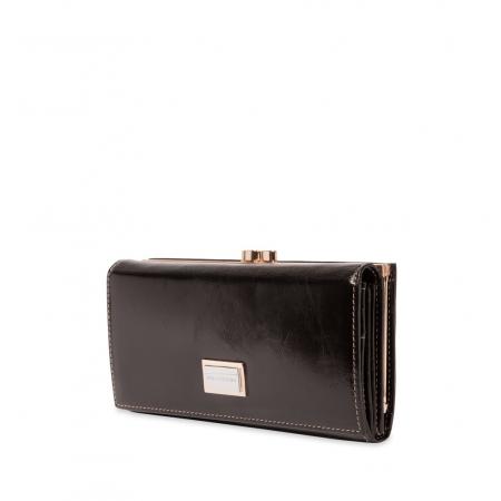 Кошелек Nina Farmina 9287 черный кожаный