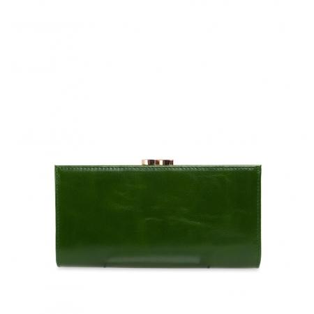Кошелек Nina Farmina 9287 зеленый с декором кожаный