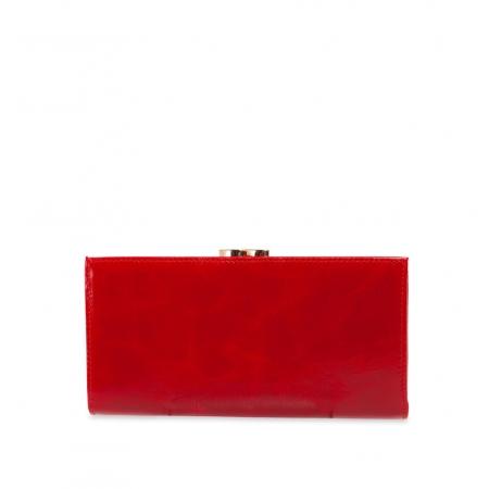 Кошелек Nina Farmina 9287 красный с декором кожаный