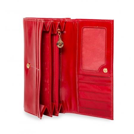 Кошелек Nina Farmina 9287 красный кожаный
