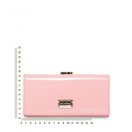 Кошелек Nina Farmina 9287 розовый кожаный