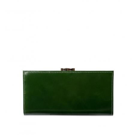 Кошелек Nina Farmina 9287 темно-зеленый кожаный