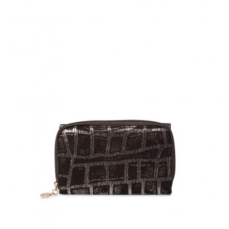 Кошелек Nina Farmina 9312-099 черный кожаный