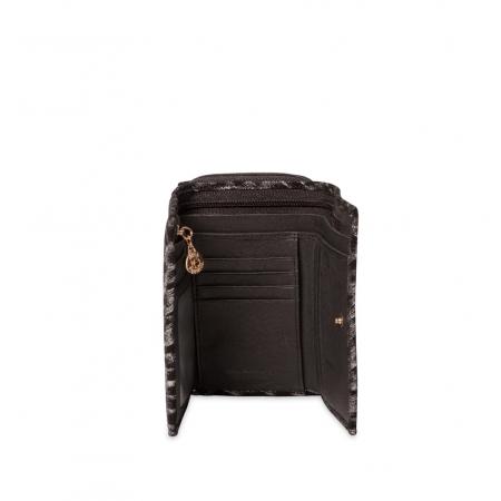 Кошелек Nina Farmina 9312-100 черный кожаный