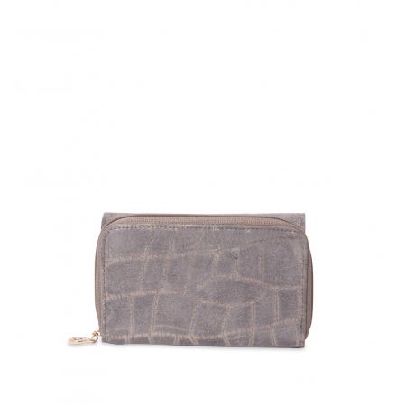 Кошелек Nina Farmina 9312-102 серый кожаный