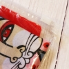 """Платок шерстяной """"Коты и кошечки"""" оранжевый с добавлением шелковой нити"""