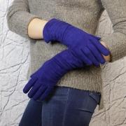Перчатки женские замшевые электрик