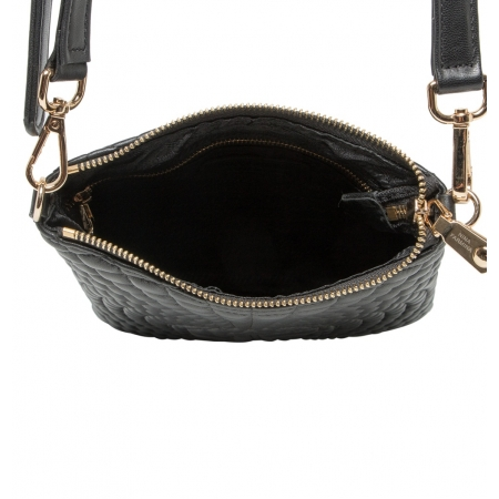 Клатч Nina Farmina 06AN12181 черный кожаный