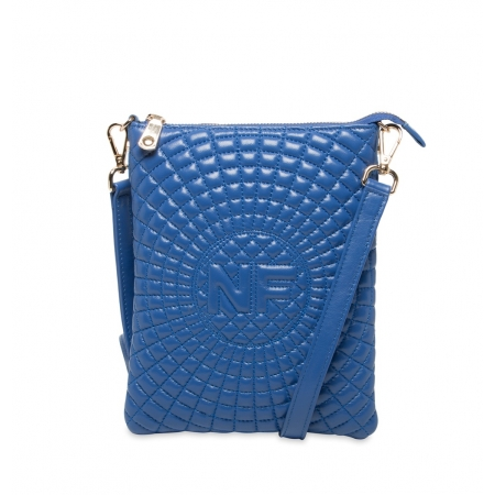 Клатч Nina Farmina 06AN12181 голубой кожаный