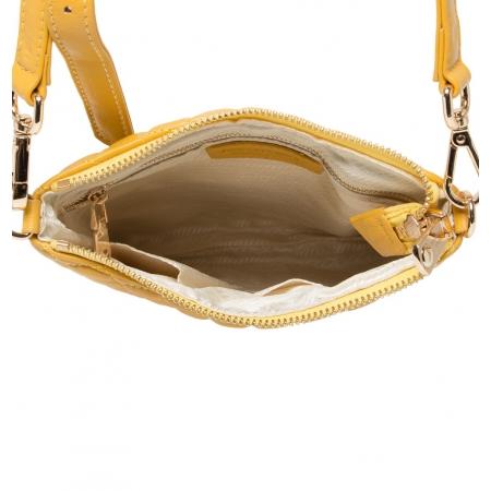 Клатч Nina Farmina 06AN12181 желтый кожаный