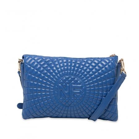Клатч Nina Farmina 06AN6288 голубой кожаный