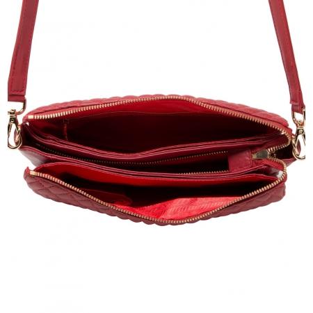 Клатч Nina Farmina 06AN6288 красный кожаный