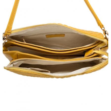 Клатч Nina Farmina 06AN6288 желтый кожаный