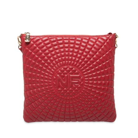 Клатч Nina Farmina 06AN903 красный кожаный