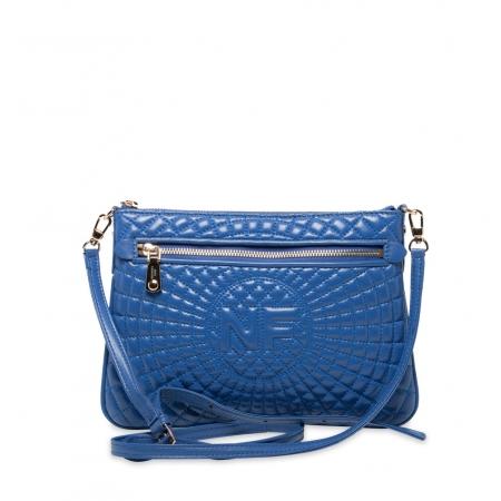 Клатч Nina Farmina 06AN9620 голубой кожаный