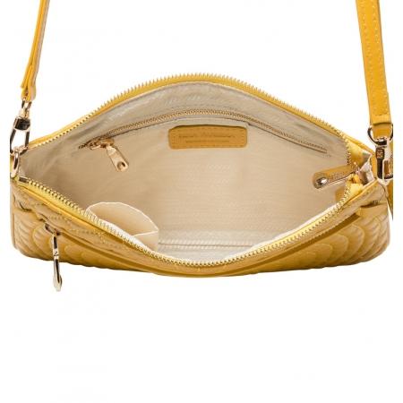 Клатч Nina Farmina 06AN9620 желтый кожаный