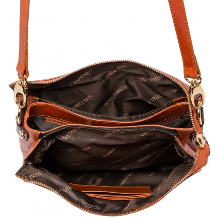 Клатч Nina Farmina 1206 кэмэл кожаный