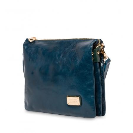 Клатч Nina Farmina 1206 синий кожаный
