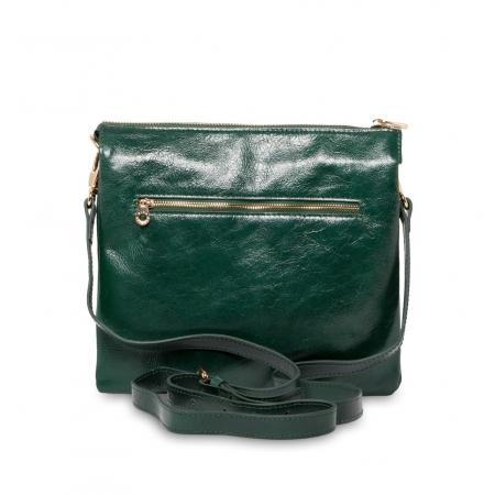 Клатч Nina Farmina 1206 темно зеленый кожаный