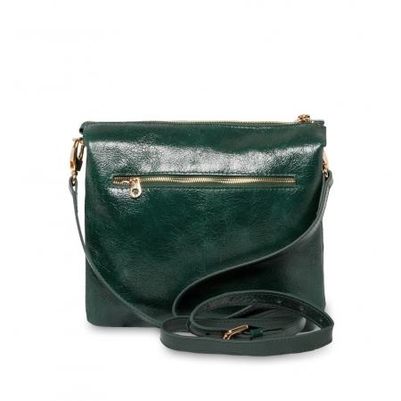 Клатч Nina Farmina 1206 зеленый кожаный