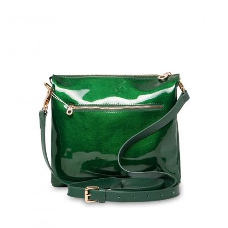 Клатч Nina Farmina 1206KR зеленый кожаный