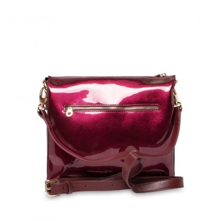 Клатч Nina Farmina 1206KR малиновый кожаный