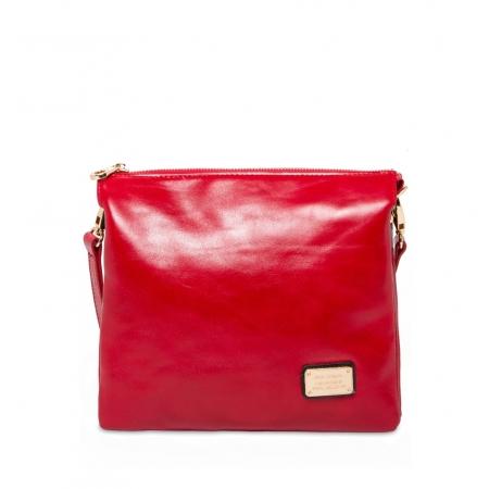 Клатч Nina Farmina 1206 красный кожаный
