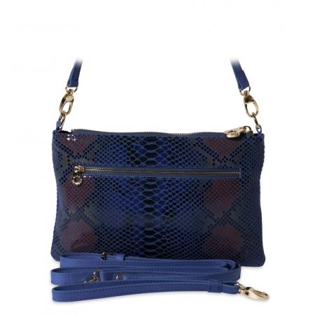 Клатч Nina Farmina 1209-114 синий кожаный