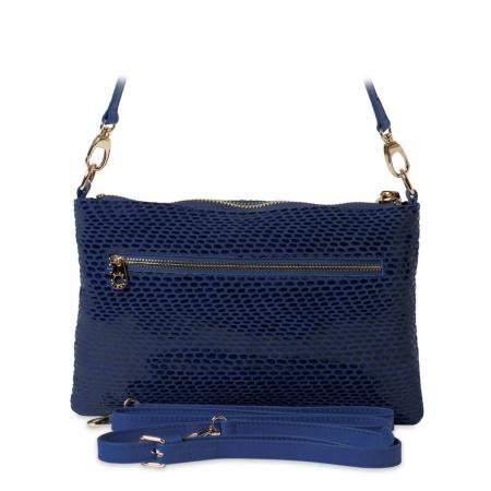 Клатч Nina Farmina 1209-119 синий кожаный