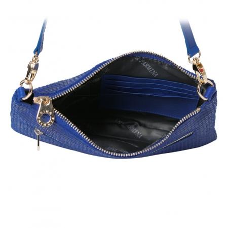 Клатч Nina Farmina 1209-123 синий кожаный