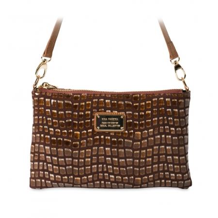 Клатч Nina Farmina 1209-126 коричневый кожаный