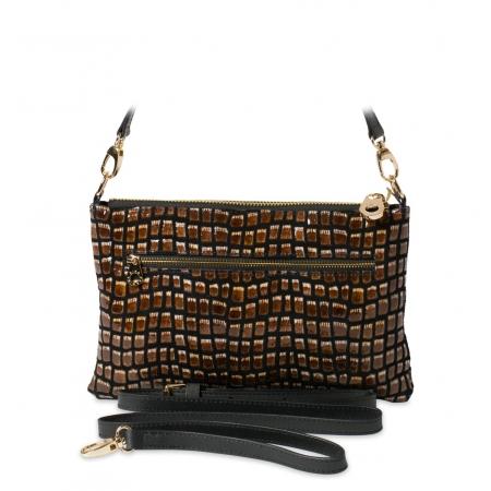 Клатч Nina Farmina 1209-127 черный кожаный