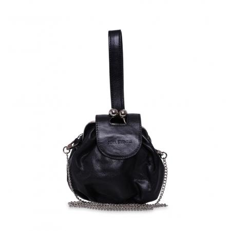 Клатч Nina Farmina 420 черный кожаный