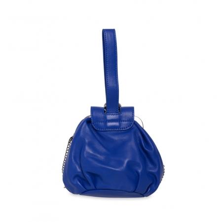 Клатч Nina Farmina 420 синий кожаный